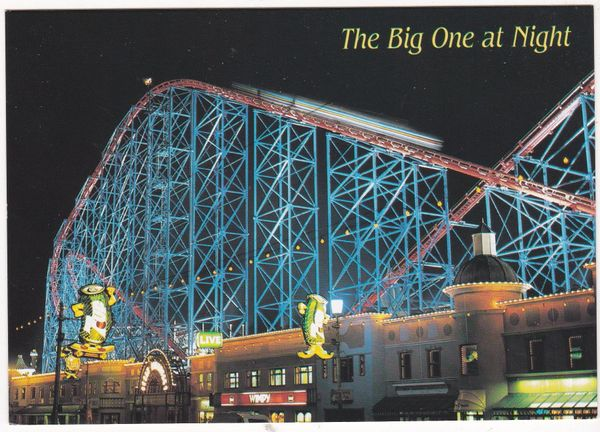 Postcard Lancashire Blackpool The Big One by Night