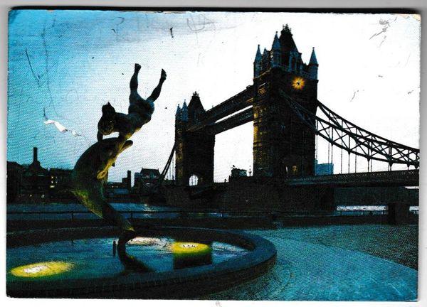 Postcard London Tower Bridge at Night