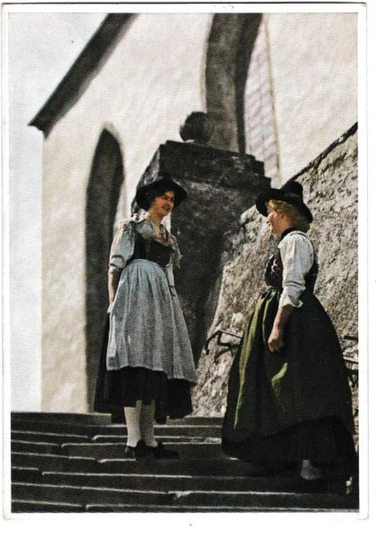 Postcard Austria Tirol Brixental Country Costume