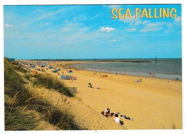 Postcard Norfolk Sea Palling – The Sands