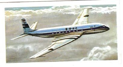 Trade Card Brooke Bond Tea : History of Aviation No. 36 de Havilland Comet 1