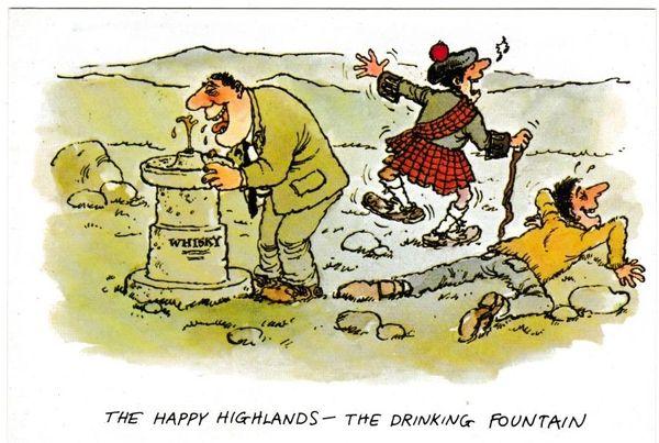 Postcard Comic The Happy Highlands