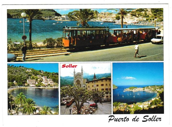 Postcard Spain Mallorca / Majorca Puerto de Soller 4 views