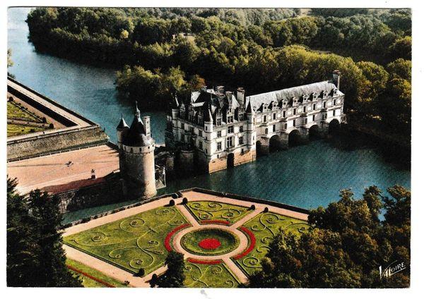 Postcard France Les Merveilles du Val de Loire Chenonceaux