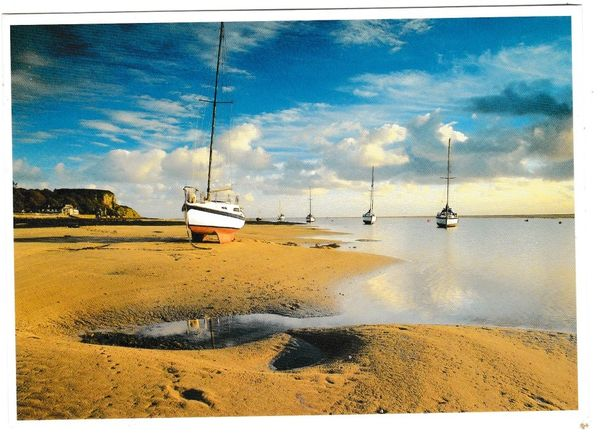Postcard Wales Anglesey Red Wharf Bay