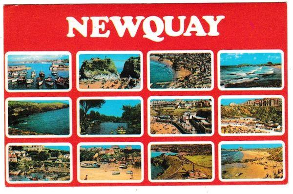 Postcard Cornwall Newquay 12 aerial views