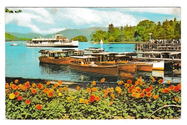 Postcard Cumbria Lake District Windemere from Bowness Promenade