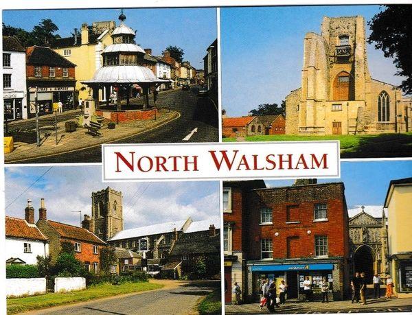 Postcard Norfolk North Walsham 4 views