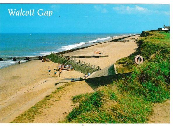 Postcard Norfolk Walcott Gap The Sands