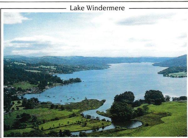 Postcard Cumbria Lake District Lake Windermere Pedley