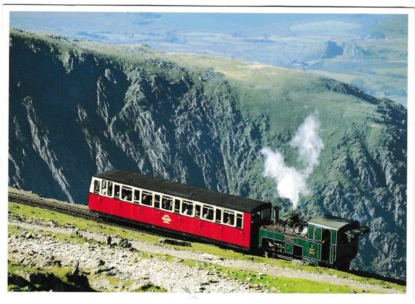 Postcard Wales / Transport Gwynned Snowdon Mountain Railway