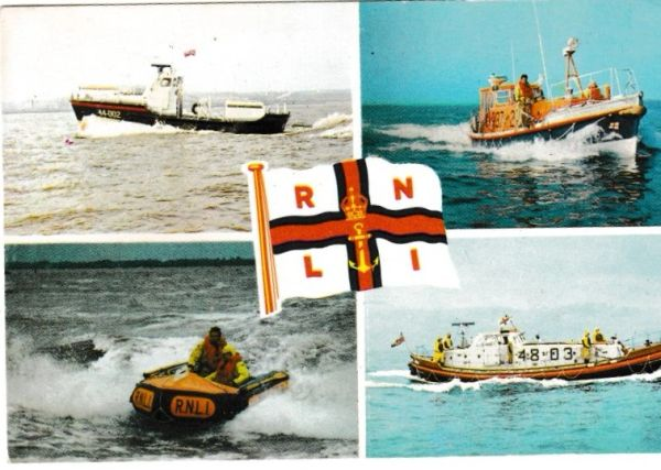 Postcard Transport R N L I Life-boats 4 views