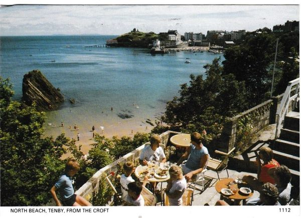 Postcard Wales Tenby North Beach from The Croft