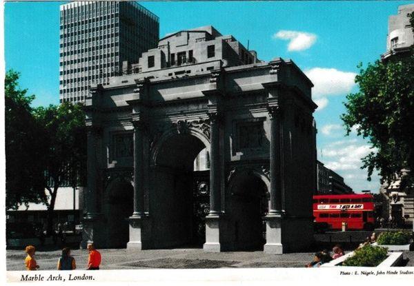Postcard London Marble Arch