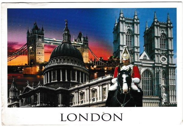 Postcard London Collage of sights