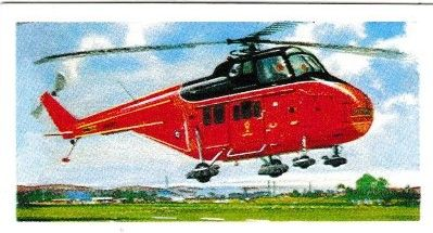 Trade Card Brooke Bond Transport Through the Ages No 41 Helicopter