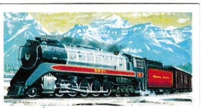 Trade Card Brooke Bond Transport Through the Ages No 19 Modern Steam Locomotive