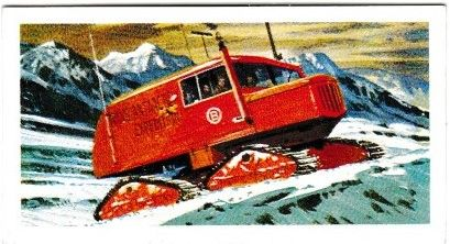 Trade Card Brooke Bond Transport Through the Ages No 34 Sno-Cat