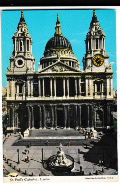 postcard London ST. PAUL'S CATHEDRAL