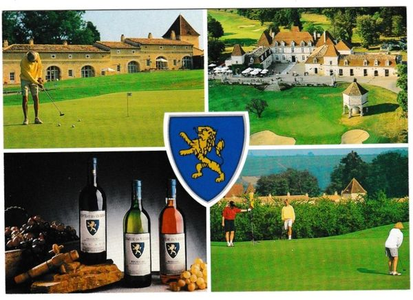 Postcard France Dordogne wine / golf Chateau Des Vigiers 4 views