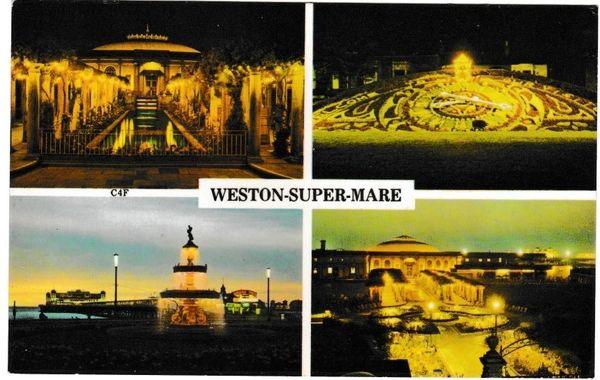 Postcard Somerset WESTON-SUPER-MARE 4 views Harvey Barton