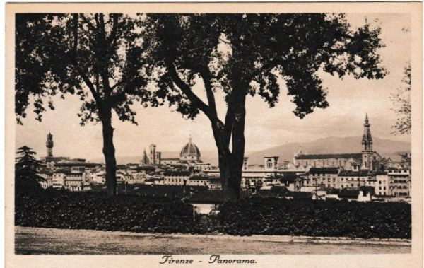 Post Card Italy FIRENZE (Florence) Panorama