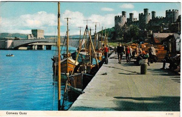 Postcard Wales Gwynedd Conway Quay