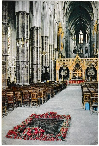 Postcard London Westminster Abbey The Nave
