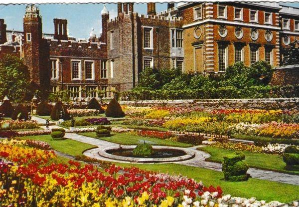 postcard London HAMPTON COURT PALACE The Sunken Garden