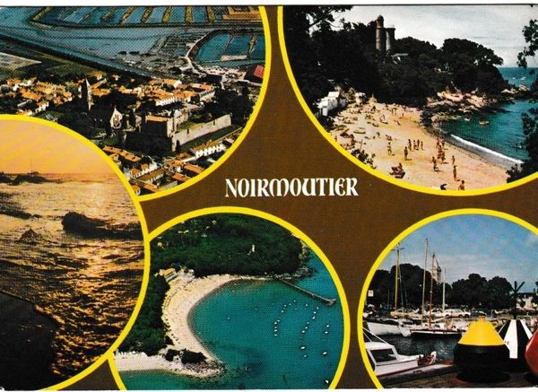 Postcard France Noirmoutier 5 views