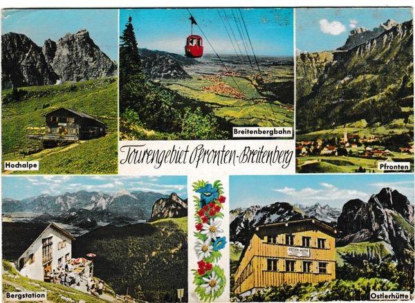 Postcard Germany Pfronten-Breitenberg Tourengebiet 5 views