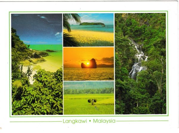 Postcard Malaysia Longkawi 5 views