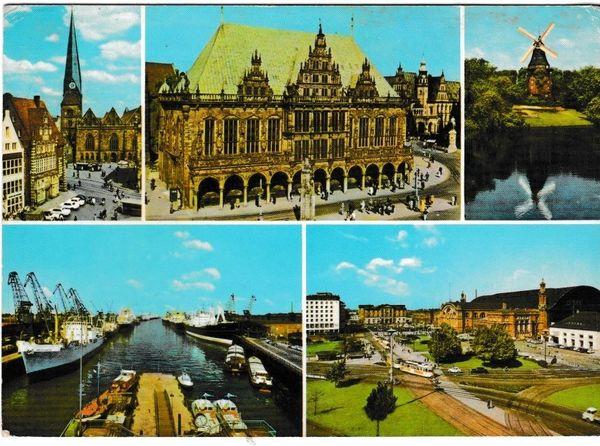 Postcard Germany Bremen 5 views