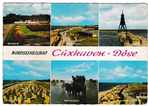 Postcard Cuxhaven-Doge Nordseeheilbad 6 views