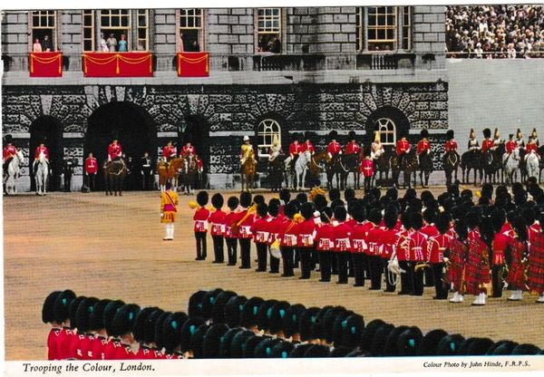 Postcard London Trooping the Colour