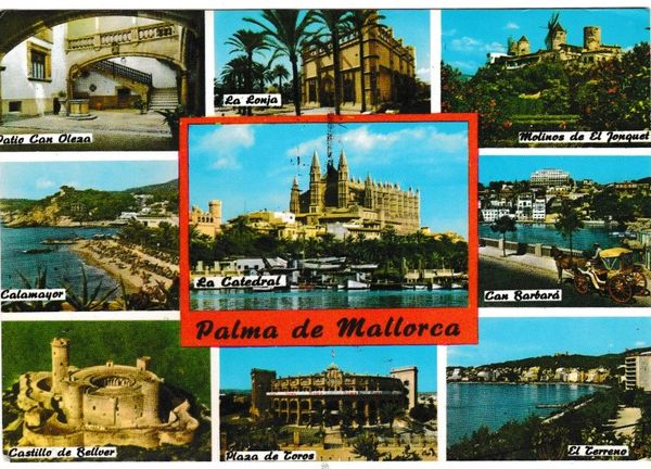 Postcard Spain Balaeric Islands Mallorca Palma de Mallorca 9 views