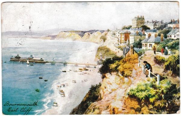 Postcard Bournemouth East Cliff Tuck