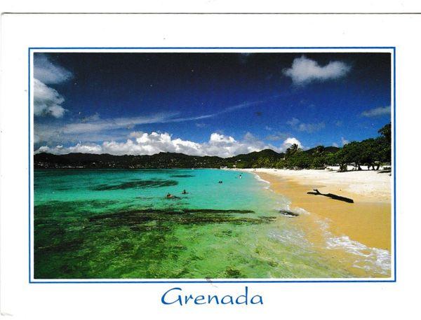 Postcard West Indies Grenada Grand Anse Beach