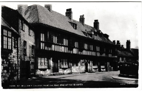 Postcard YorkThe Minster St. William's College