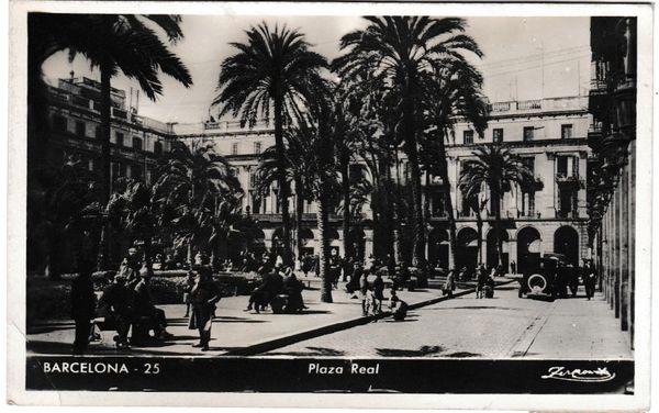 Postcard Spain Barcelona 25 Plaza Real