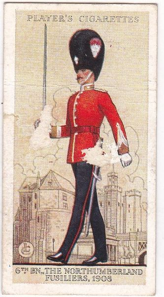 No. 20 6th Bn., The Northumberland Fusiliers, 1908