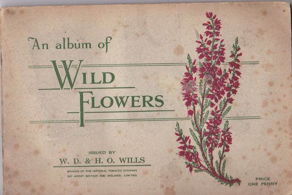 Will's WILD FLOWERS A Series Full Set of 50 cards stuck in contemporary album