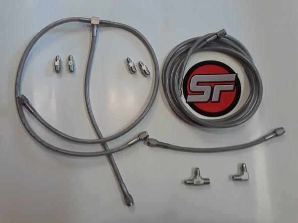 Ss Brake Line Kit Ss Plastic Coated Brake Line An Fittings