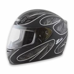 Zamp FS-8 Helmet Black and Silver