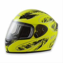 Zamp FS-8 Helmet Neon Green and Black