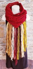 Burgundy Cowl Dreamcatcher