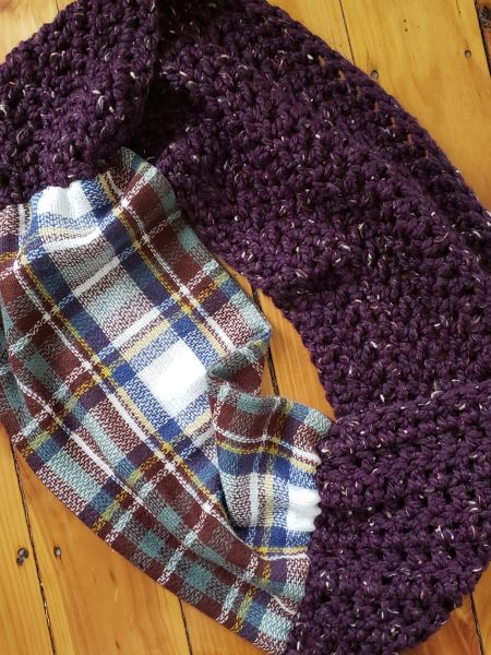 Purple and Blue Plaid