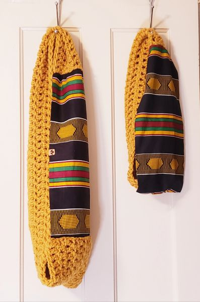 Mommy and Me African Striped Scarf Set