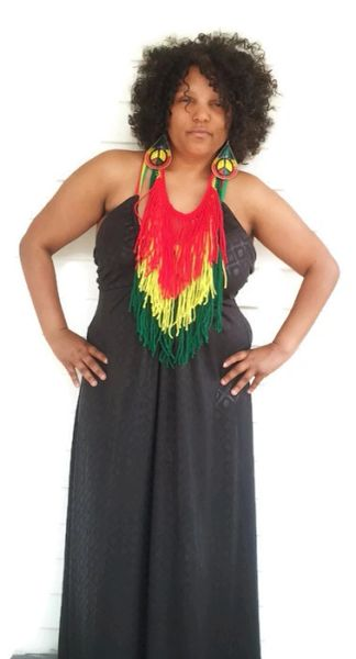Rasta Fringe Necklace