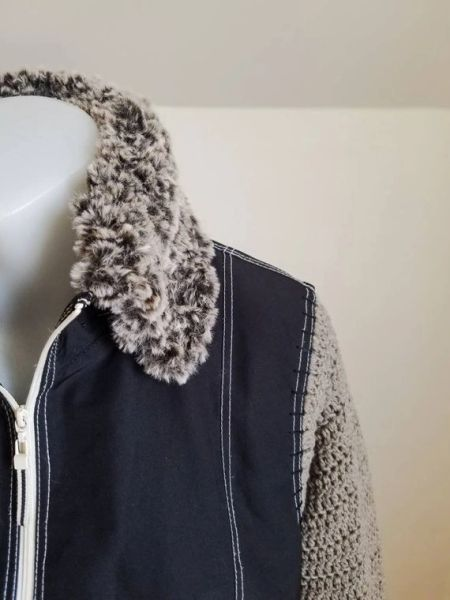 Upcycled Vest with Faux Fur